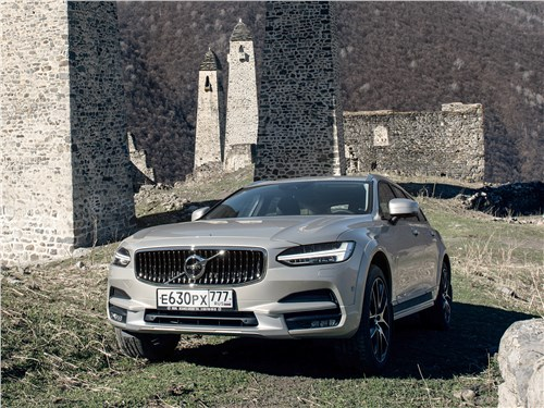 Volvo V90 Cross Country - volvo v90 cross country 2017 и горы…по колено