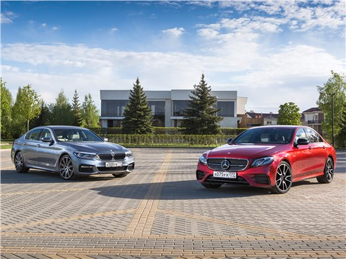 BMW 5 series, Mercedes-Benz E-Class AMG - сравнительный тест bmw 540i xdrive и mercedes-amg e 43 4matic. в поисках жертвы