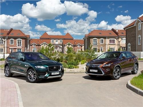 Lexus RX - сравнительный тест jaguar f-pace 2016 и lexus rx 2016. оптический обман