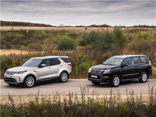 Lexus GX, Land Rover Discovery - сравнительный тест land rover discovery 2017 и lexus gx: последние герои