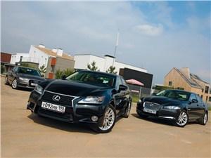 Lexus GS, Jaguar XF, Audi A6 - сравнительный тест lexus gs, audi a6, jaguar xf