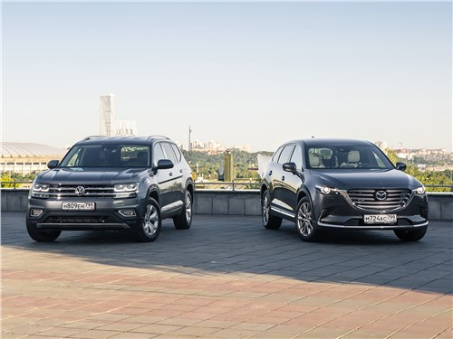 Volkswagen Teramont, Mazda CX-9 - сравнительный тест mazda cx-9 2016 и volkswagen teramont 2018: схватка «американцев» в россии