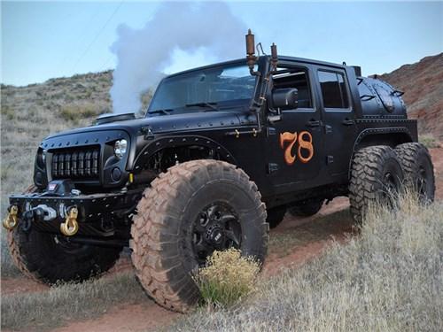 Jeep Wrangler превратили в паровоз