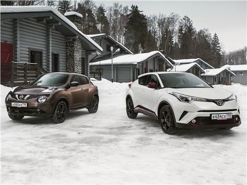 Toyota C-HR, Nissan Juke - сравнительный тест. nissan juke 1.6 2017 и toyota c-hr 2.0 2017. чем покоряют сердца дам японские «малыши»