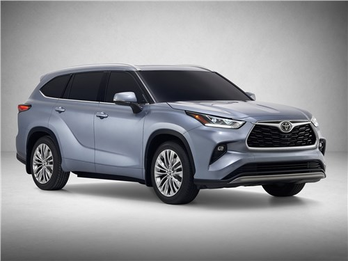 Toyota Highlander 2020 вид спереди