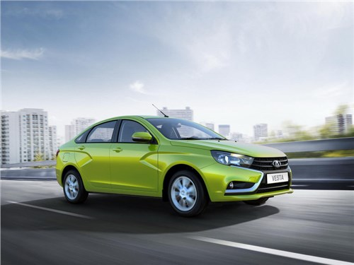 Новость про Lada Vesta - Объем продаж автомобилей гольф-класса сократился на 8,2 процента