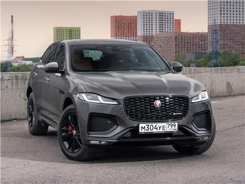 Предпросмотр jaguar f-pace (2021) вид спереди