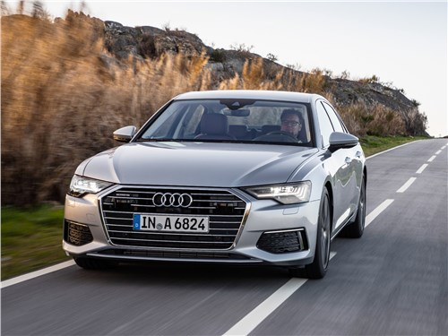 Тандем для удовольствия A6 - Audi A6 2019 вид спереди