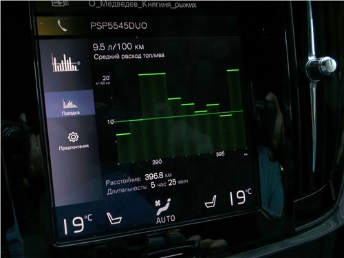 Предпросмотр volvo s90 2019 монитор
