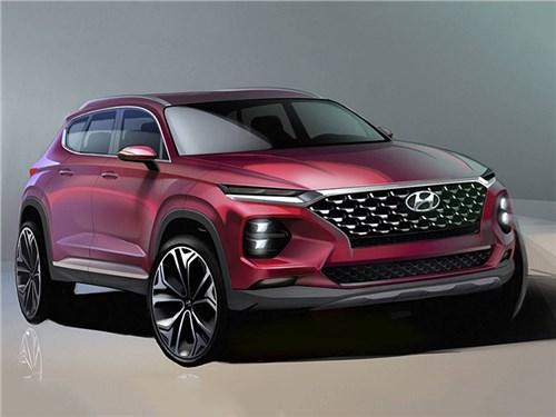 Hyundai показал облик нового Santa Fe