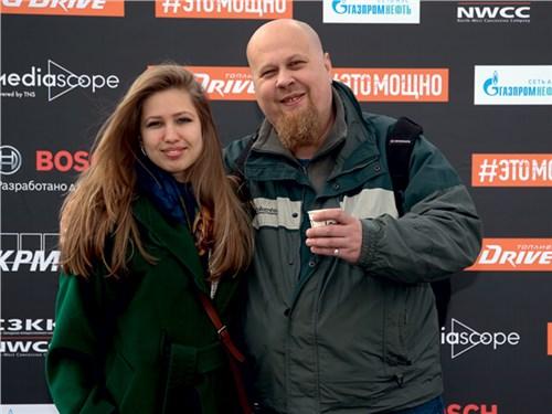 Юлия Свидло (Jaguar Land Rover) и Иван Владимиров (MotorPage.ru)