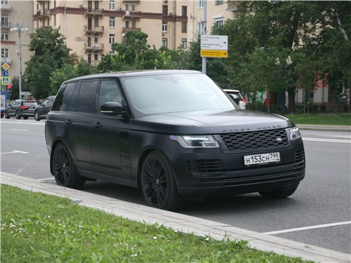 Land Rover Range Rover Autobiography 2018 вид спереди сбоку