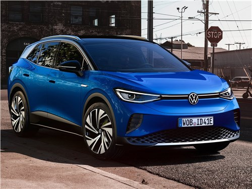 Volkswagen ID.4 (2021) вид спереди