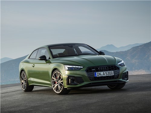 Audi A5 (2020) вид спереди