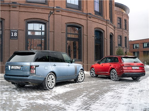 Range Rover и Audi Q7 вид сзади