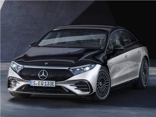 Mercedes-Benz EQS (2022) вид спереди