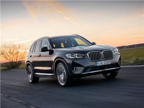 BMW X3 (2022) вид спереди