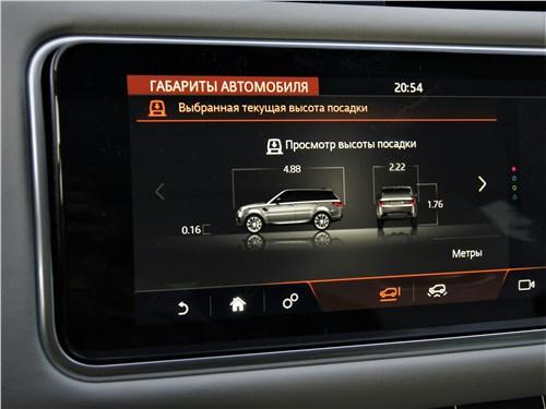Land Rover Range Rover Sport SVR (2018) дисплеи
