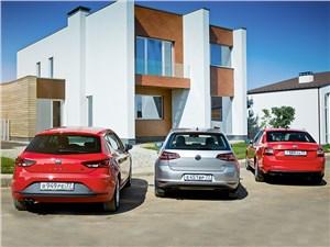 Сравнительный тест Seat Leon, Skoda Octavia, Volkswagen Golf