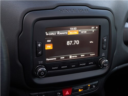 Jeep Renegade 2019 монитор