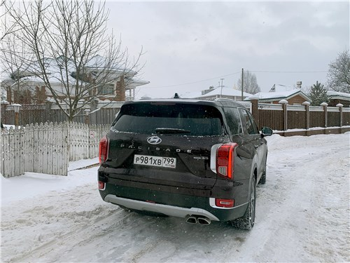 Hyundai Palisade 2020 вид сзади