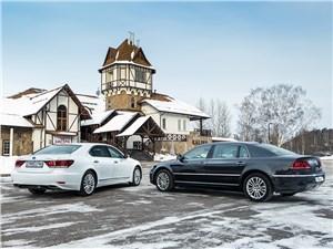 Сравнительный тест Lexus LS 600h и Volkswagen Phaeton 3.0 TDI