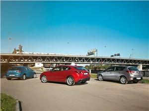 Сравнительный тест Mazda 3, Volkswagen Golf, Toyota Auris