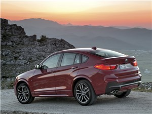 BMW X4 2014 сзади