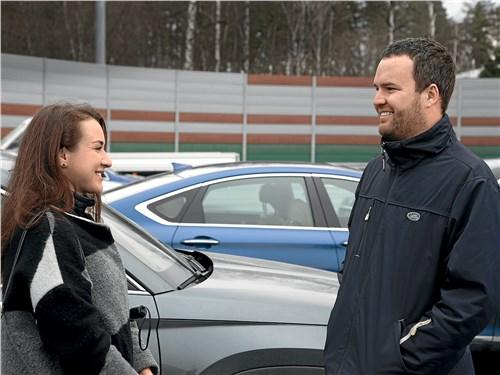 Милла Гошева (пресс-служба Volvo) и Руслан Дэмченко (Fashion Collection)