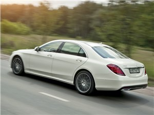 Mercedes-Benz S350 BlueTec 4MATIC 2014 вид сзади