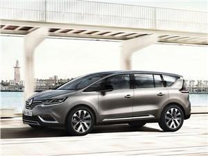 Renault Espace 2015 вид спереди сбоку