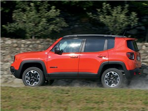 Jeep Renegade 2014 вид сбоку