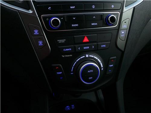 Hyundai Santa Fe 2015 центральная консоль
