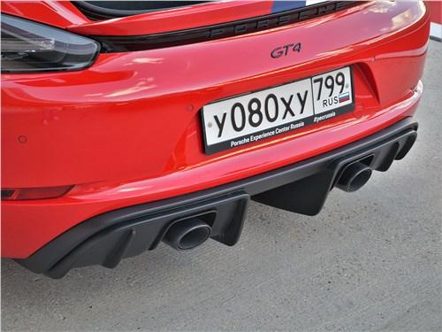Porsche Cayman GT4 (2020) задний бампер