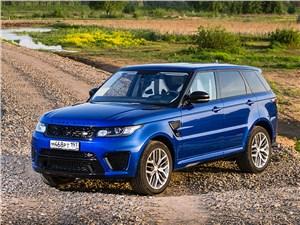 Самые быстрые внедорожники могут поспорить со спорткарами (BMW X5, Mercedes-Benz ML-Klasse, Porsche Cayenne, Land Rover Range Rover, Land Rover Range Rover Sport, Volkswagen Touareg) Range Rover Sport - Land Rover Range Rover Sport SVR 2015 вид спереди