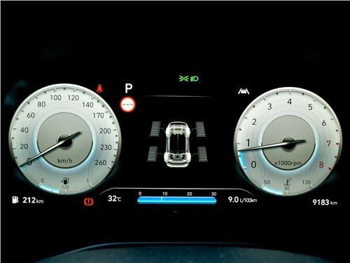 Hyundai Santa Fe (2021) приборная панель