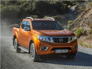 Практичный квинтет (Ford Ranger, Mazda B, Mitsubishi L200, Nissan Navara, SsangYong Musso Sports) Navara - Nissan NP300 Navara 2016 вид спереди