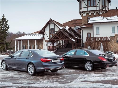 BMW 7-й серии и Mercedes-Benz S-Class. вид сзади