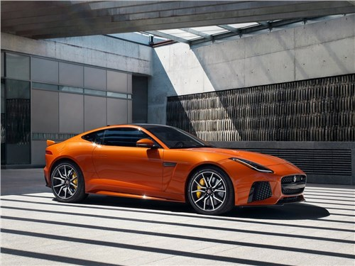 Предпросмотр jaguar f-type svr coupe 2016 вид спереди сбоку