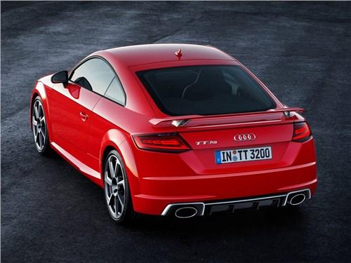 Audi TT RS Coupe 2017 вид сзади сверху