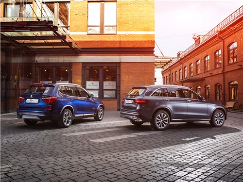 Сравнительный тест BMW X3 30d и Mercedes-Benz GLC 250