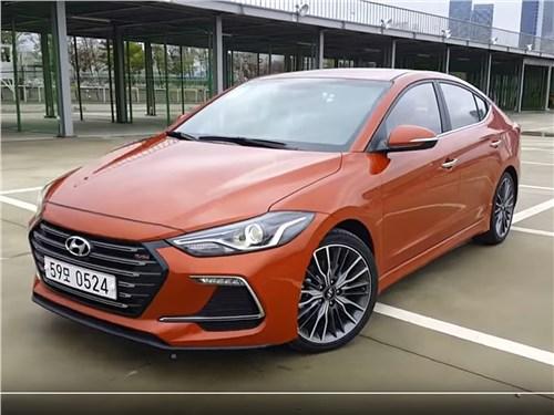 Азиатский спор Elantra - Hyundai Elantra Sport 2017 вид спереди сбоку