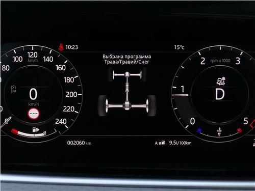 Land Rover Range Rover Evoque 2020 приборная панель