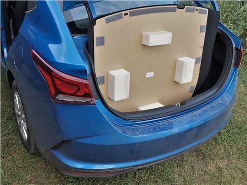Hyundai Solaris 2020 багажное отделение