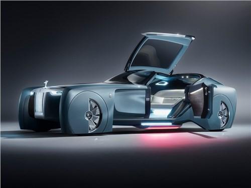 Предпросмотр rolls-royce vision next 100 concept 2016 вид спереди сбоку