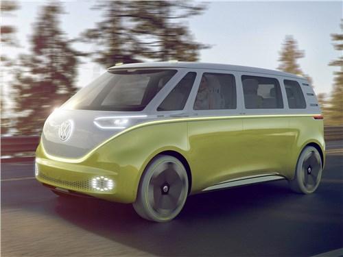Предпросмотр volkswagen id buzz concept 2017 вид спереди сбоку