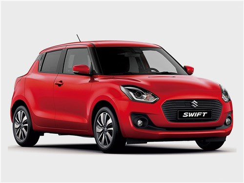Европейский выбор. Часть II (Honda Jazz, Mazda 2, Mitsubishi Colt, Peugeot 207, Renault Clio, Suzuki Swift, Toyota Yaris) Swift - Suzuki Swift 2017 вид спереди