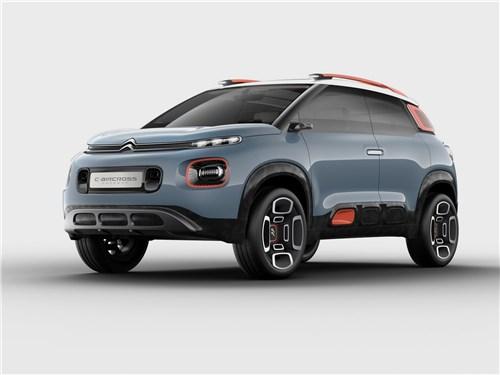 Предпросмотр citroen c-aircross concept 2017 вид спереди сбоку
