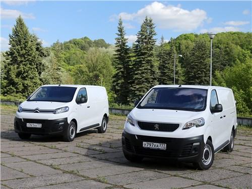 Peugeot Expert 2017 и Citroen Jumpy 2017 вид спереди