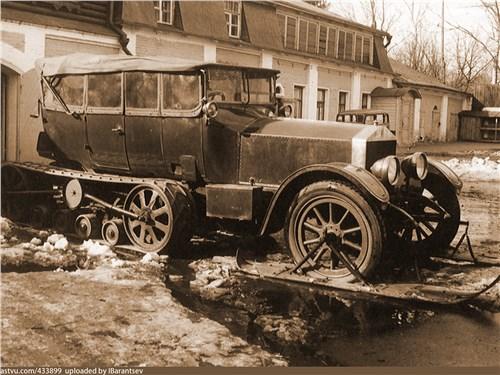 Rolls-Royce Silver Ghost был переделан для зимних прогулок